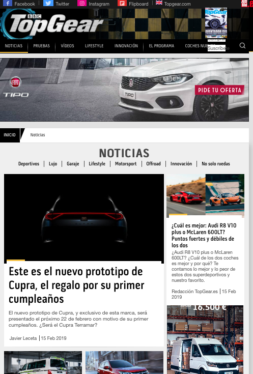 blogs de motor en España top gear