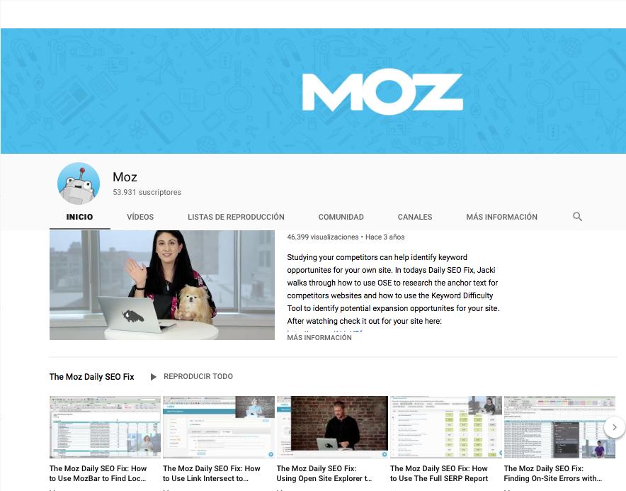 conseguir suscriptores en Youtube MOZ