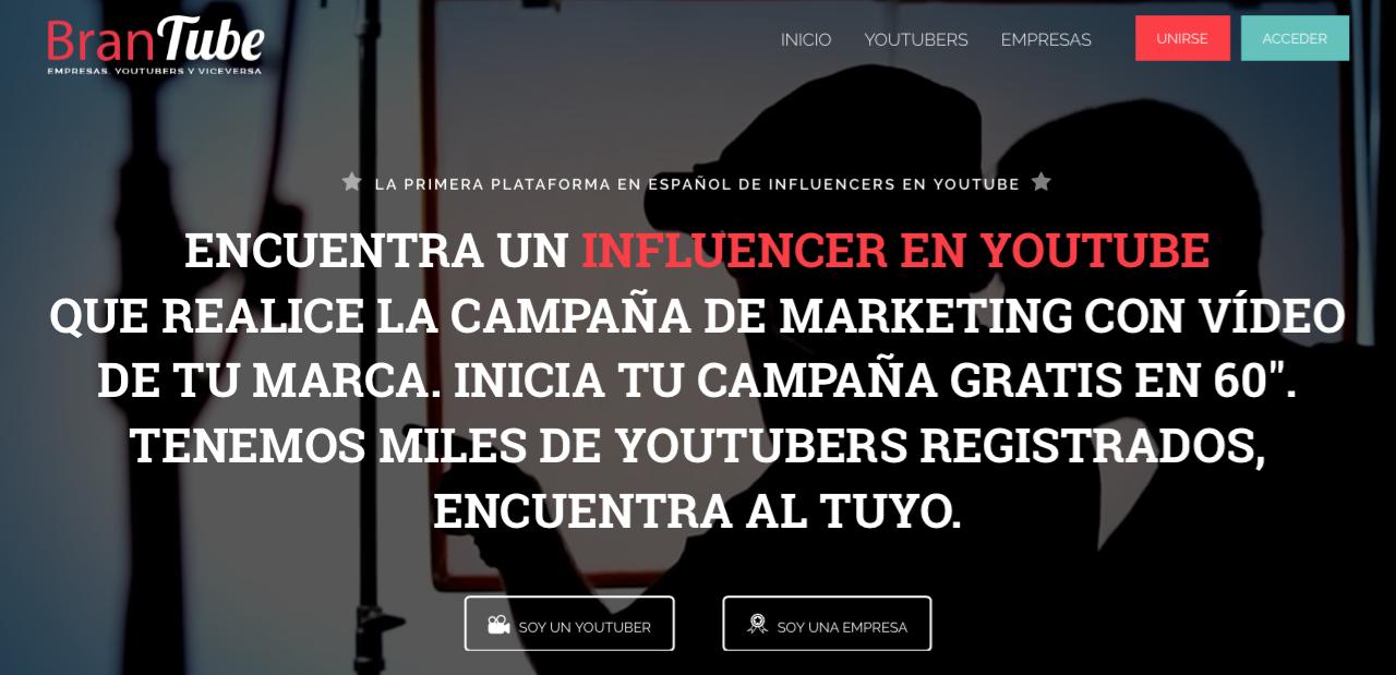 plataformas de influencer marketing brandtube