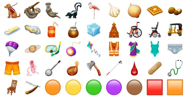 nuevos emoticonos en 2019