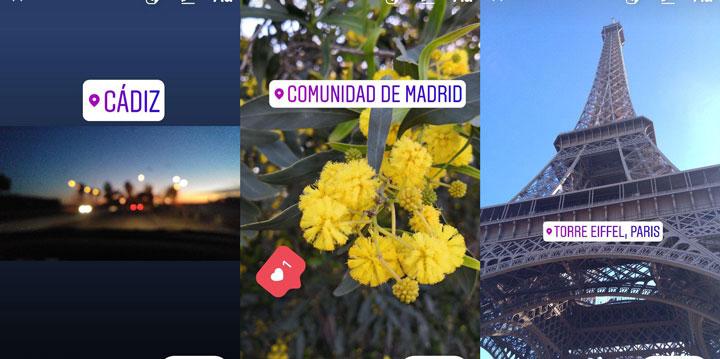 optimizar las stories de Instagram: Ubicación