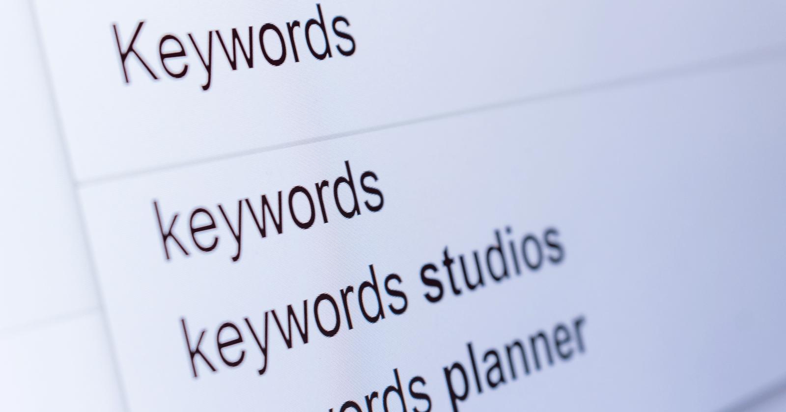 errores de posicionamiento keywords
