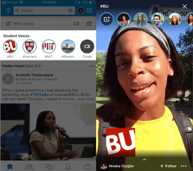 Linkedin Live student voice
