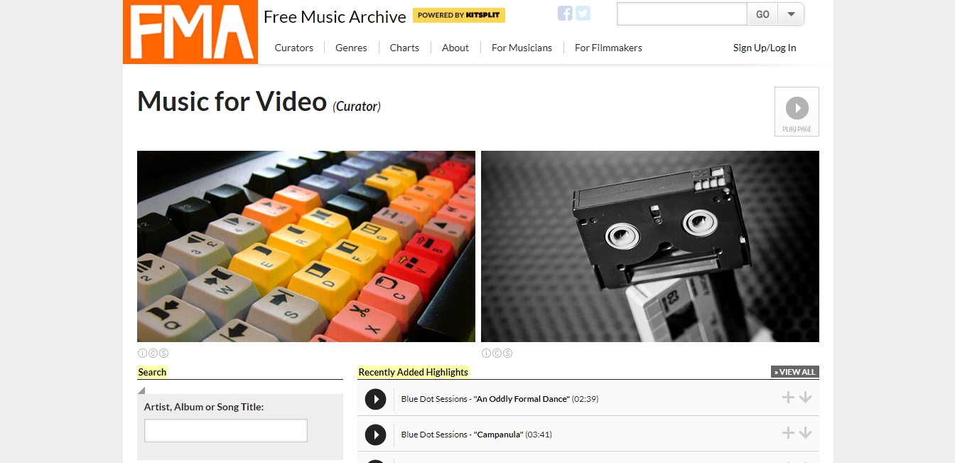 bancos de música gratis: FMA