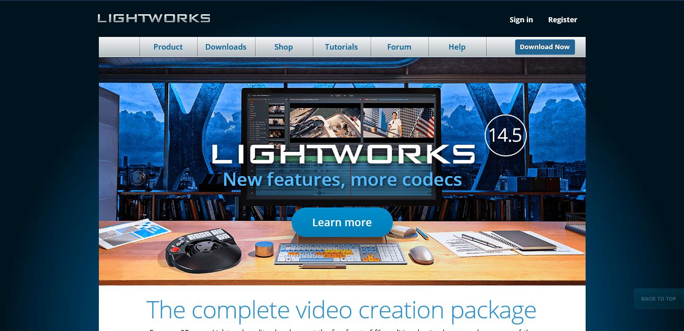 herramientas gratuitas para crear vídeos: Lightworks