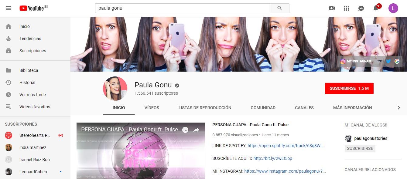 influencers con más seguidores en la generación Z: Paula Gonu