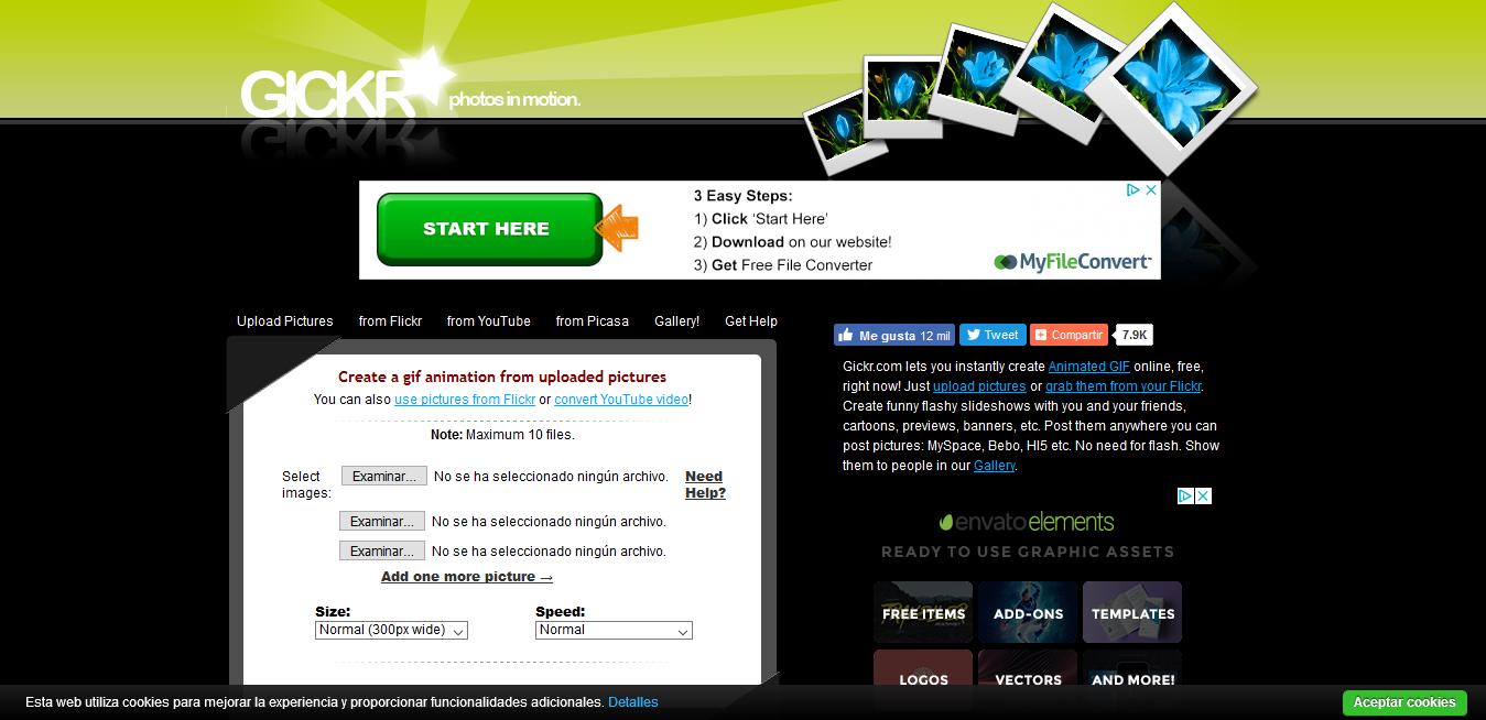 herramientas gratuitas para hacer GIFS Gickr