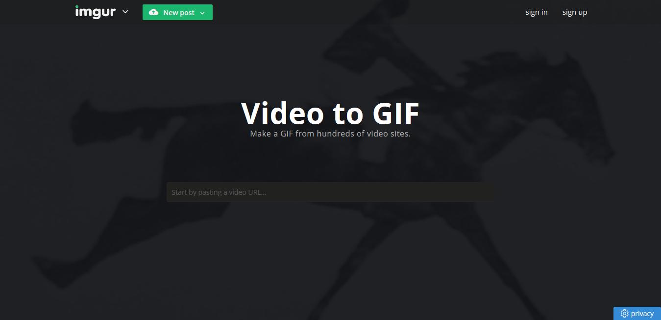 herramientas gratuitas para hacer GIFS: Imgur