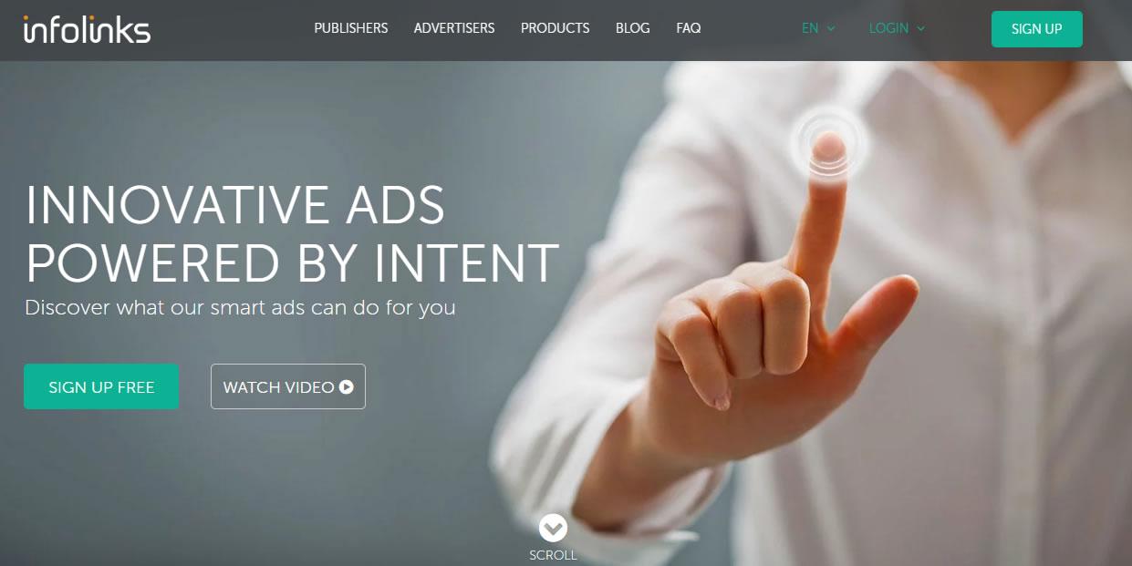 publicidad en blogs: Infolinks