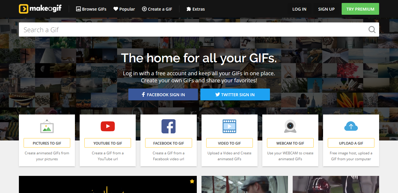 herramientas gratuitas para hacer GIFS: Makeagif