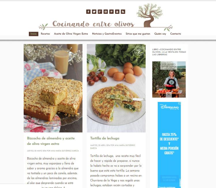 publicidad en blogs: cocinando entre olivos