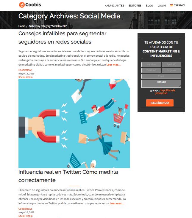 Qué son los contenidos satélites social media