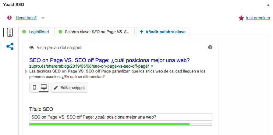 SEO on Page VS. SEO off Page title tag