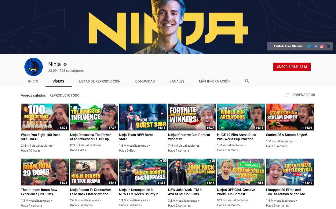ninja influencers de los esports
