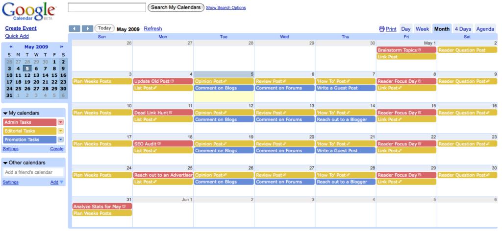 calendario editorial para verano