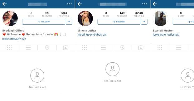 cuentas falsas de Instagram