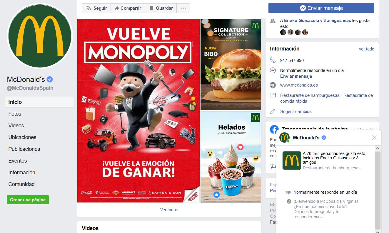 Marcas más amadas en redes sociales: McDonald`s