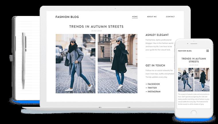 ejemplo de fashion blog