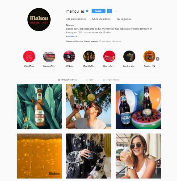 Cruzcampo VS Mahou: Instagram
