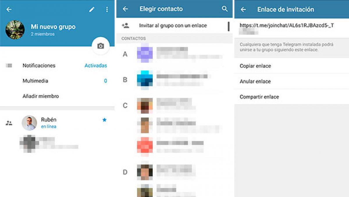invitación a grupo de Telegram