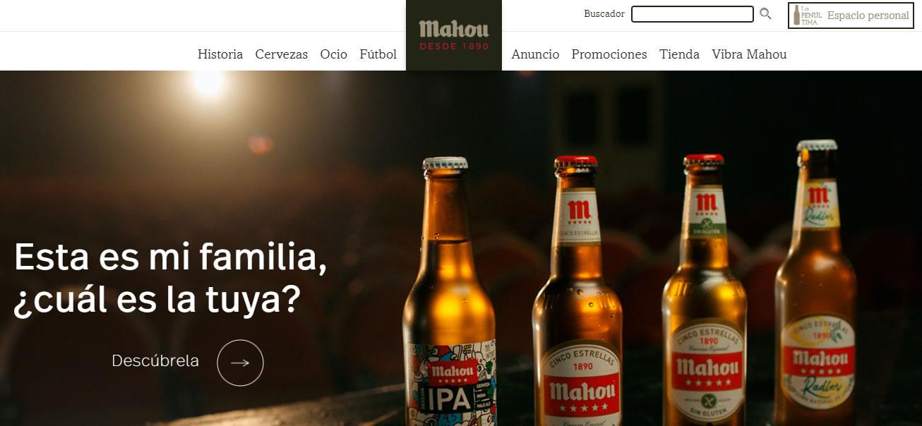 página web de Mahou