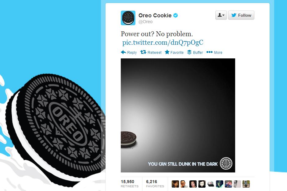 newsjacking en tu estrategia de marketing: Oreo