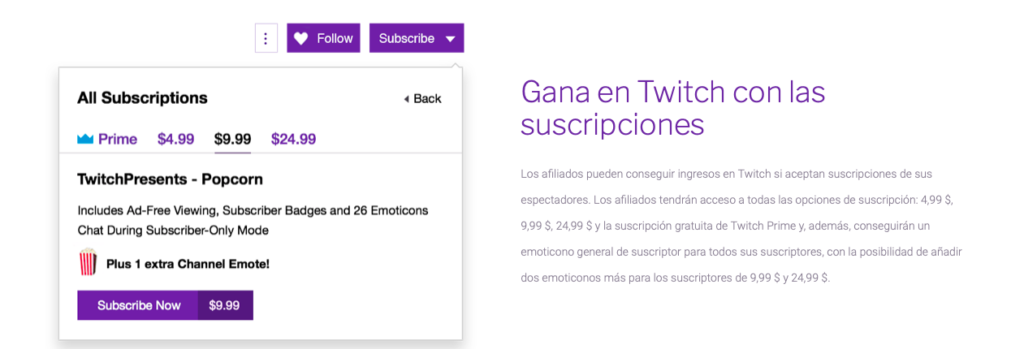 programa afiliados Twitch