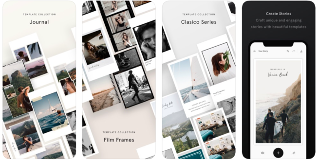 Herramientas para Instagram stories: Unfold