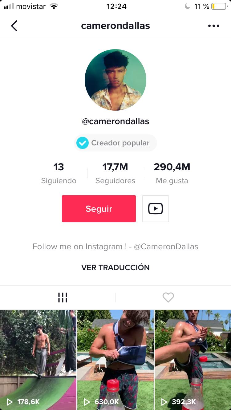 influencers de tik tok: Cameron Dallas