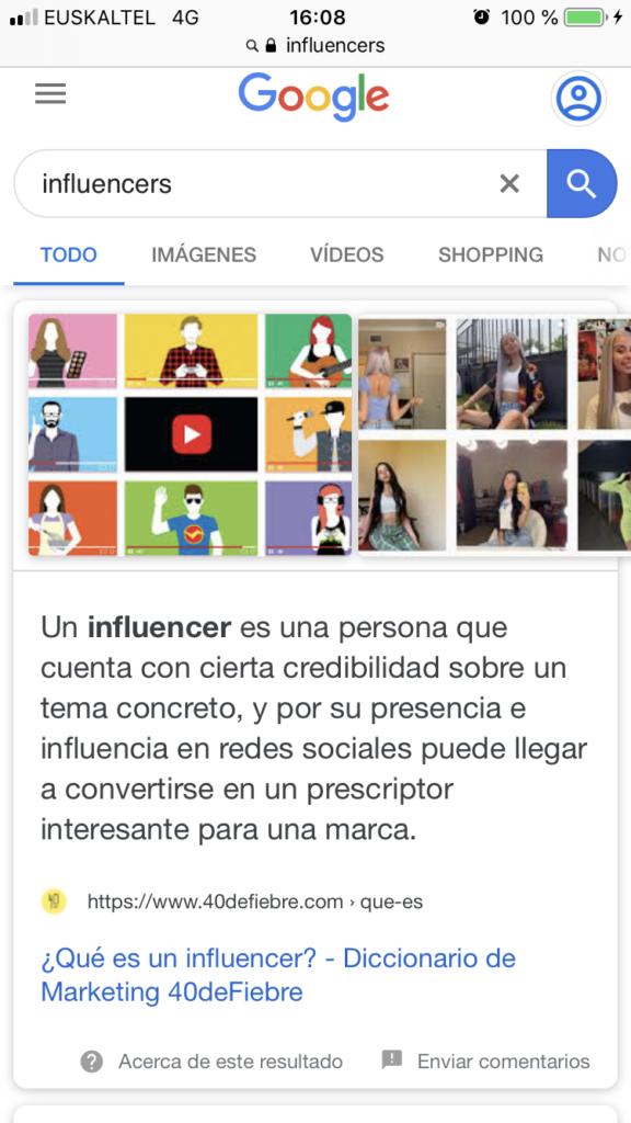 búsqueda móvil