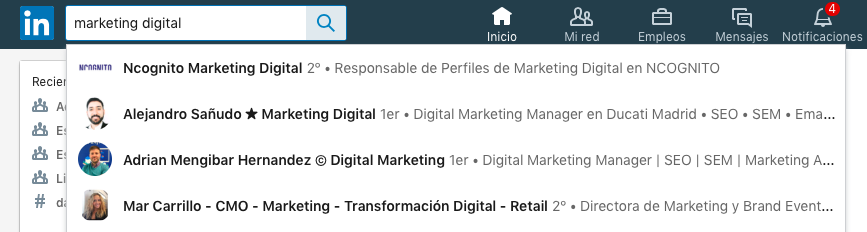 keywords linkedin