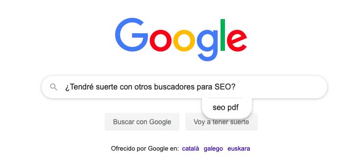posicionar en buscadores que no son Google