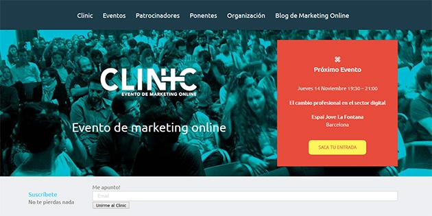 Eventos SEO en 2020 en España: Clinic