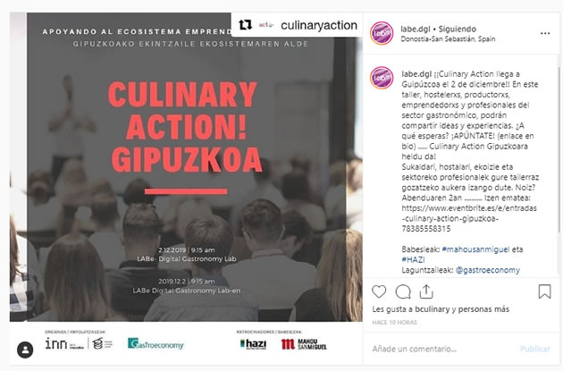 Copywriting para Instagram: Culinary Action