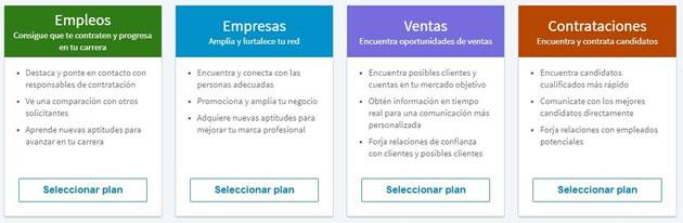 Servicios Premium de Linkedin