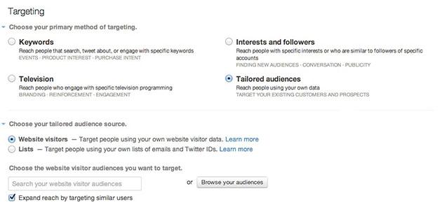 Segmentar una campaña deRemarketing en Twitter Ads