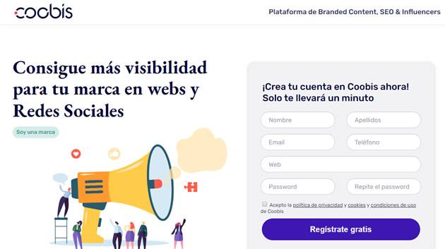 webs que ayudan a encontrar influencers: Coobis