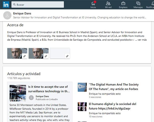 mejores influencers en Linkedin en español: Enrique Dans