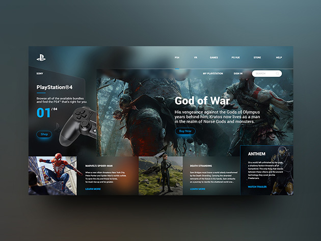 PlayStation- landing page