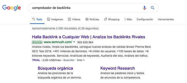 Intención de búsqueda de los usuarios