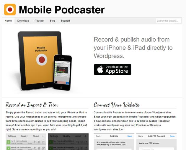 Aplicaciones para crear podcast desde el móvil: Mobile podcaster