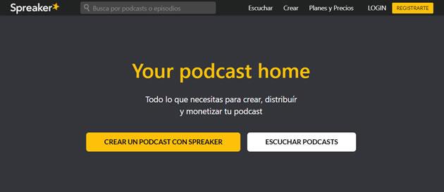Aplicaciones para crear podcast desde el móvil: Spreaker