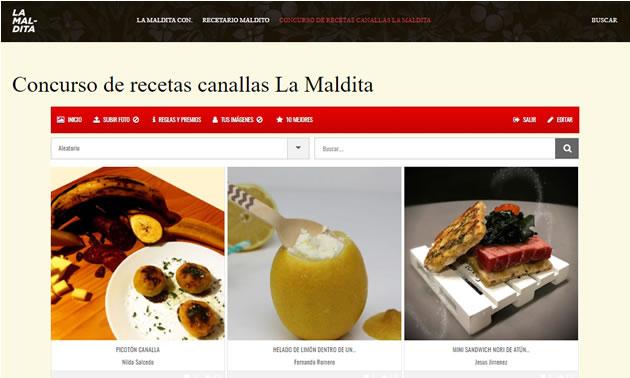 concurso de recetas y blog de La Maldita Wines