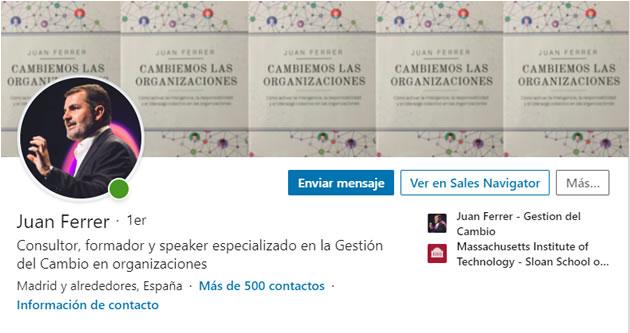 plan de marca personal en Linkedin: Juan Ferrer