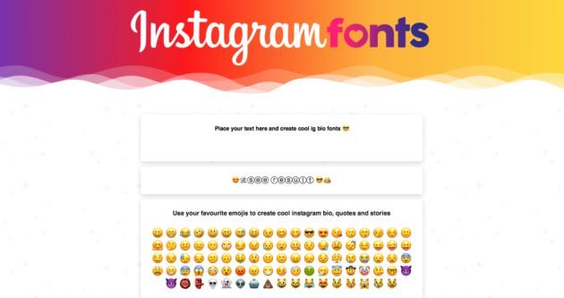 Cambiar la tipografía en Instagram: Instagram Fonts