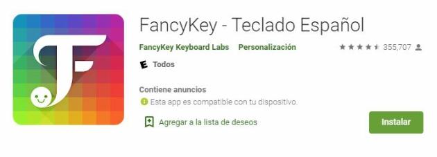 Cambiar la tipografía en Instagram: FancyKey
