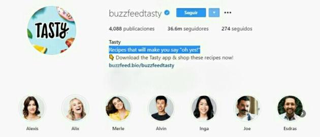 Biografía Buzz feed Tasty