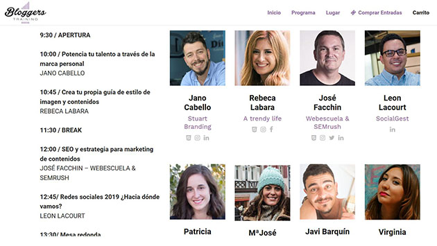 Eventos de Influencer Marketing en España en 2020: Evento Blogger Training