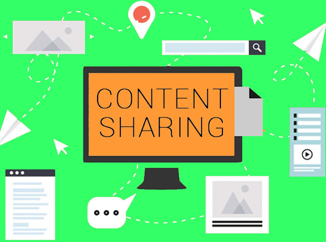 compartir contenido externo en redes sociales