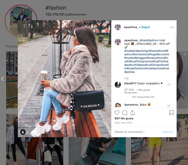 Hashtags más utilizados en instagram